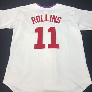 Majestic Shirts - Phillies Jimmy Rollins Majestic Jersey